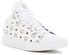 cheap for discount c0841 95e32 MCM Coated Canvas   Leather Low Top Sneaker - ShopStyle