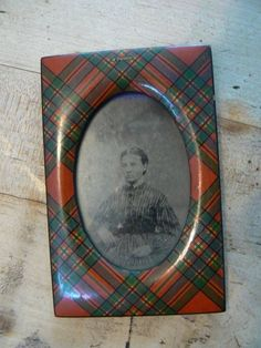 Small Tartan Ware Picture Frame sold for $203.49