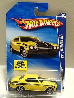 Mattel Hot Wheels Racing Stock Car - '70 Chevelle SS This item is NOT in Mint Condition and is in no way being described as Mint or even Near Mint. Our toys have not always lead the perfect life, nor