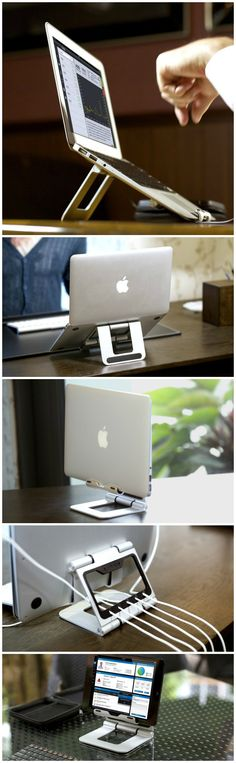 The Ridge Stand - A new MacBook Air computer stand that is clean aesthetic…