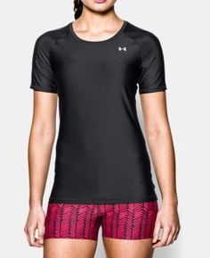Under Armour Womens UA HeatGear Armour Short Sleeve Medium Black *** Check out this great product. (This is an affiliate link) T Shirts, Casual Shirts, Tees, 4 Way Stretch Fabric, Active Wear For Women, Fashion Outlet, Black Shorts, Under Armour Women, Short Sleeve Tee
