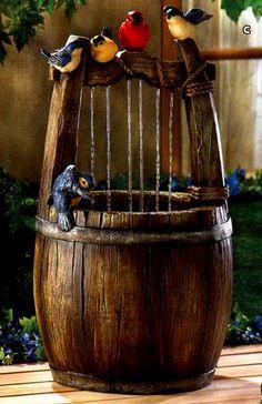 Wishing well table fountain