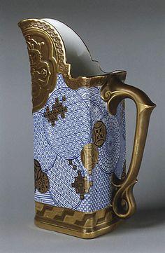 Worcester   Date: 1880   Culture:                                      British, Worcester                                                       Medium:                                      Bone china                                                       Dimensions:                                      Gr. H. 7 3/4 in. (19.7 cm.)                                                       Classification:                             %2