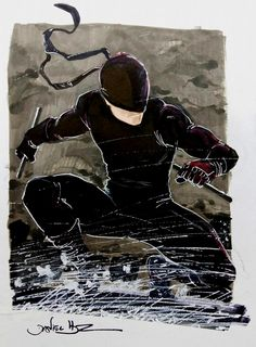 Drawing Marvel Comics Daredevil Here comes the Daredevil - Man Without Fear Sketch with Copic Markers and Withe Out pen. Comic Book Characters, Comic Book Heroes, Comic Character, Comic Books Art, Comic Art, Marvel Comics, Marvel Heroes, Punisher Marvel, Captain Marvel
