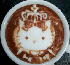 .·:*¨¨*:·. Coffee ♥ Art.·:*¨¨*:·. Hello Kitty latte