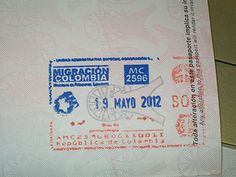 Colombia passport stamp - Google Search