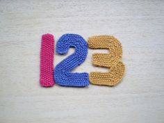This pattern is an addition to my alphabet series of knitted letters. The numbers are knitted in moss stitch and can be worked in any yarn. When knitted in DK on 3.25mm needles they are about 11 cm tall. Using 4 ply and 2mm needles gives letters about 8 cm tall.