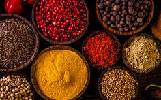 Variability of Asian spices on wooden table royalty-free stock photo Indonesian Food, Food Trends, Restaurant Recipes, Wooden Tables, Oriental, Spices, Royalty Free Stock Photos, Asian, Traditional