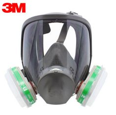 Inventive Full Face 6800 7 Pcs Gas Mask Pesticides Facepiece Respirator Painting Spraying 6001 Filter Cartridge Chemical Medicine Event & Party