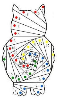 Free Iris Folding Patterns | Rev!ve Iris Folding: Owl pattern