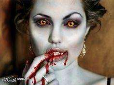Angelina Jolie as a Vampire - entry in the Photoshopped Celebrity Vampires 5 - Worth1000 Contests