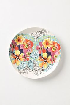 "Anthropologie ""Flights and Fancy"" plate, £8"