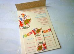 postcard wedding invitations mexico | mexican bunting wedding invitation cinco de mayo wedding invitations ...