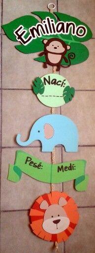#Letrero de madera pintado a mano para #cuartobebé hecho por Muñecas de Papel visitanos en: www.facebook.com/Munecas.de.Papel.Puebla