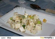 Dip z balkánské sýra recept International Recipes, Feta, Potato Salad, Hamburger, Dip, Food And Drink, Cheese, Homemade, Cooking