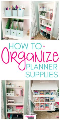 Tips To Organize Planner Supplies Don't miss these tips to organize planner supplies and keep all of your planner stickers organized!Don't miss these tips to organize planner supplies and keep all of your planner stickers organized! Organisation Hacks, Sticker Organization, Craft Room Storage, Home Office Organization, Craft Organization, Organizing Your Home, Organizing Tips, Storage Ideas, Craft Rooms