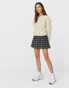 Stradivarius recycled polyester pleated mini tennis skirt in check | ASOS Plaid Skirts, Tartan Plaid, Latest Trends, Tennis, Asos, Mini, Grid, Stuff To Buy, Shopping