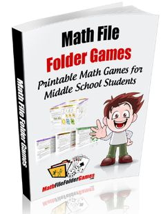 Math File Folder Games (www.) are specifically designed for students in the grade! Why Math File Folder Games? File folder games are a simple way to be ready at any moment to play a math game. Middle School Classroom, Math Classroom, Classroom Ideas, School Kids, Math Teacher, Teaching Math, Teaching Ideas, Teacher Stuff, 8th Grade Math Games
