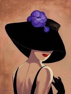 Ода шляпе и той даме, на которой эта шляпа. Художница Lorraine Dell Wood.