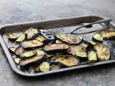 Healthy Broiled Eggplant with Balsamic Vinegar and Garlic