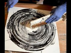 Abstract Art Painting Acrylic Circle Techniques Black and White - YouTube