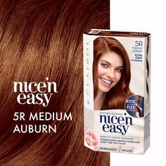 Use the link to shop our Nice'n Easy colour in Medium Auburn At Home Hair Color, Red Hair Color, Cool Hair Color, Big Voluminous Curls, Hollywood Curls, Silky Smooth Hair, Bouncy Curls, Permanent Hair Color, Auburn Hair