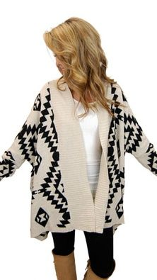 oversized comfy patterned sweater - i have a similar one but instead of black it's pink. Definitely great.