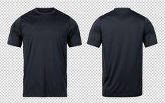 T-shirt nere sportive modello frontale e. Sport T-shirts, T Shirt Sport, Blank T Shirts, Plain Shirts, Plain Black T Shirt, Camisa Lisa, T Shirt Design Template, Elegant Man, Your Design