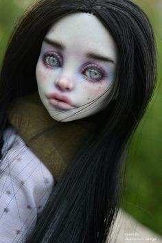 Custom Monster High Dolls, Monster Dolls, Monster High Repaint, Custom Dolls, Doll Face Paint, Doll Painting, Pokemon Dolls, Big Eyes Artist, Gothic Dolls