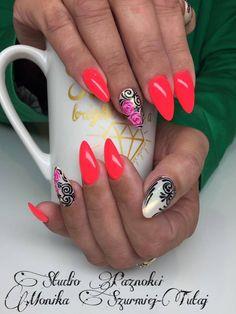 by Monika Szurmiej Tutaj Indigo Young Team ! Follow us on Pinterest. Find more inspiration at www.indigo-nails.com #nailart #nails #indigo #red #rose #look #at #me