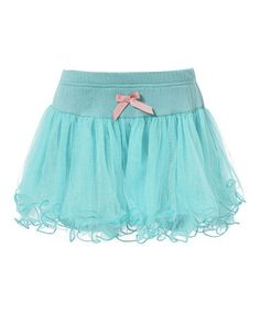 Love this Blue Bow Ruffle Skirt - Infant, Toddler & Girls on #zulily! #zulilyfinds