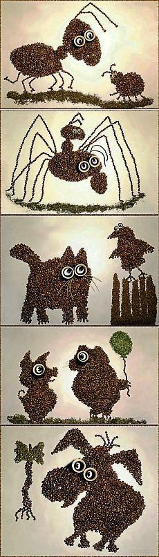 Картины из зерен кофе | СДЕЛАЙ САМ!