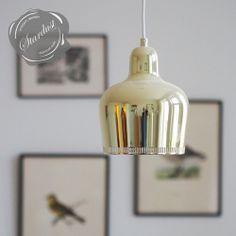 Alvar Aalto Golden Bell Pendant Lamp by Artek Retro Lighting, Interior Lighting, Home Lighting, Kitchen Lighting, Modern Lighting, Pendant Lamp, Pendant Lighting, Art Deco Colors, Alvar Aalto