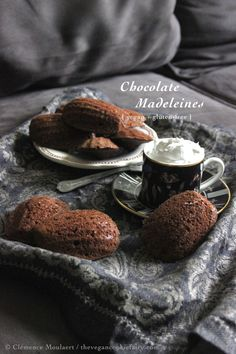 #vegan chocolate madeleines