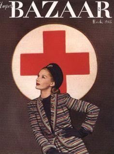 Lisa Fonssagrives, Harper's Bazaar Cover, March 1945