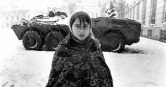 Marianne Grondahl, New Year's Day, Bucharest, Romania, 1990 Black White Photos, Black And White, Romanian Revolution, Snow Art, Marianne, Bellisima, Female Art, Young Women, Portrait