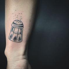 Cut salt shaker tattoo from Friday the 13th special #tattoo #salt