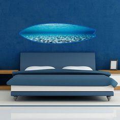 Discover Home, Art, Men's, Women's & Tech Accessories Surfboard Painting, Surfboard Art, Bedroom Nook, Bedroom Themes, Tropical Artwork, Oversized Wall Art, Wave Art, Surfboards, Cool Rooms