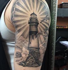 Healed #getinktattoo #alexgetink #lighthouse #lighthousetattoo #ink #getink…