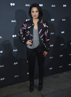 Demi Lovato Lookbook: Demi Lovato wearing B.o.B (4 of 7). Demi Lovato topped off her look with a teased bob when she attended the 2016 AOL NewFront.