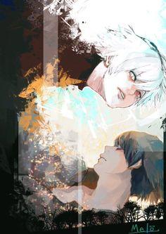 Kaneki and Shuu (? Tokyo Ghoul Fan Art, Ken Kaneki Tokyo Ghoul, Manga Anime, Anime Art, Ayato Kirishima, Fanart, Chef D Oeuvre, Wow Art, Dark Fantasy