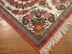 Persian Silk Quom Carpet   1'11'' X 2'6'' Silk Quom Oriental Rug   SIL938   #Persianrug #PersianCarpet #persianrugsinfo #ruglovers