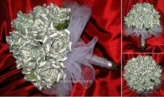 Money Flower Bouquet (made with 100 x $1 bills). Loved working on this flowers. I think the bouquet came out very pretty! For price and ordering please text, message or call Margarita @ 818-903-2202