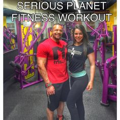 SERIOUS Workout at Planet Fitness with Marc Lobliner and Alyssa Polisano