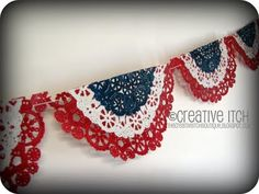 spray painted doilies