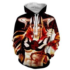Anime Costumes, Cosplay Costumes, Cosplay Ideas, Naruto Uzumaki, Anime Naruto, Bleach Hoodie, Harajuku Fashion, Harajuku Style, Anime Merchandise