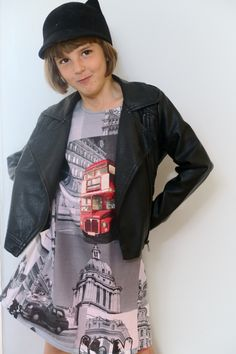 Love London fabric pinafore dress