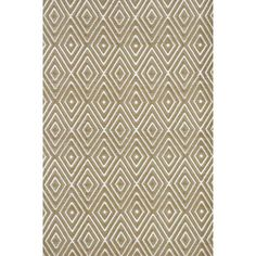 Dash and Albert Rugs Diamond Hand-Woven Brown Indoor/Outdoor Area Rug