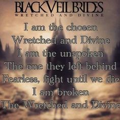 black veil brides - wretched and divine <3 xxx
