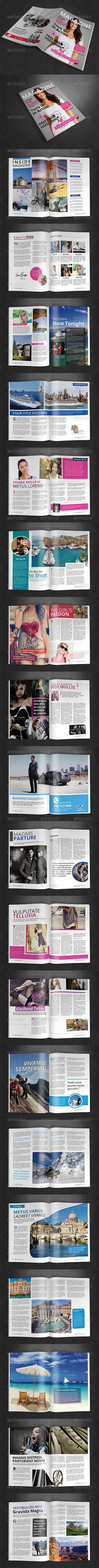 A4 Magazine Template | Vol 5 — Photoshop PSD #content page #a4 size • Available here → https://graphicriver.net/item/a4-magazine-template-vol-5/8631379?ref=pxcr